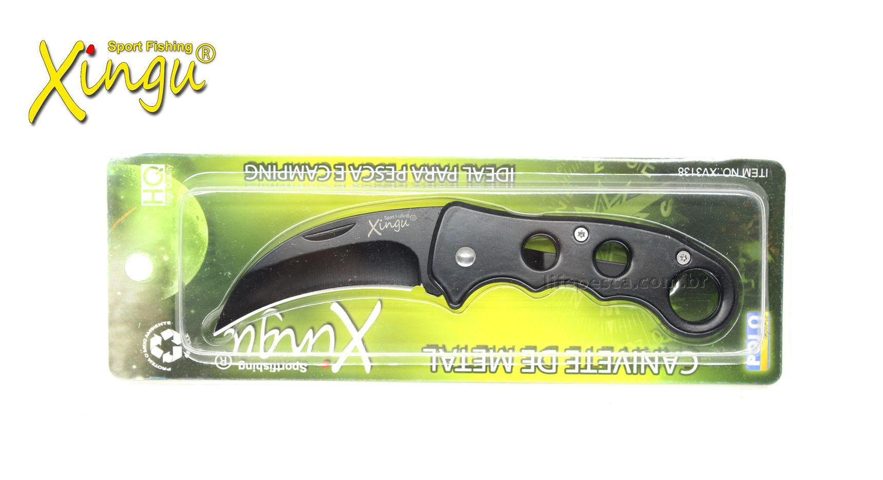 Canivete Xingu XV3138 Lâmina Curva - Aço Carbono  - Life Pesca - Sua loja de Pesca, Camping e Lazer
