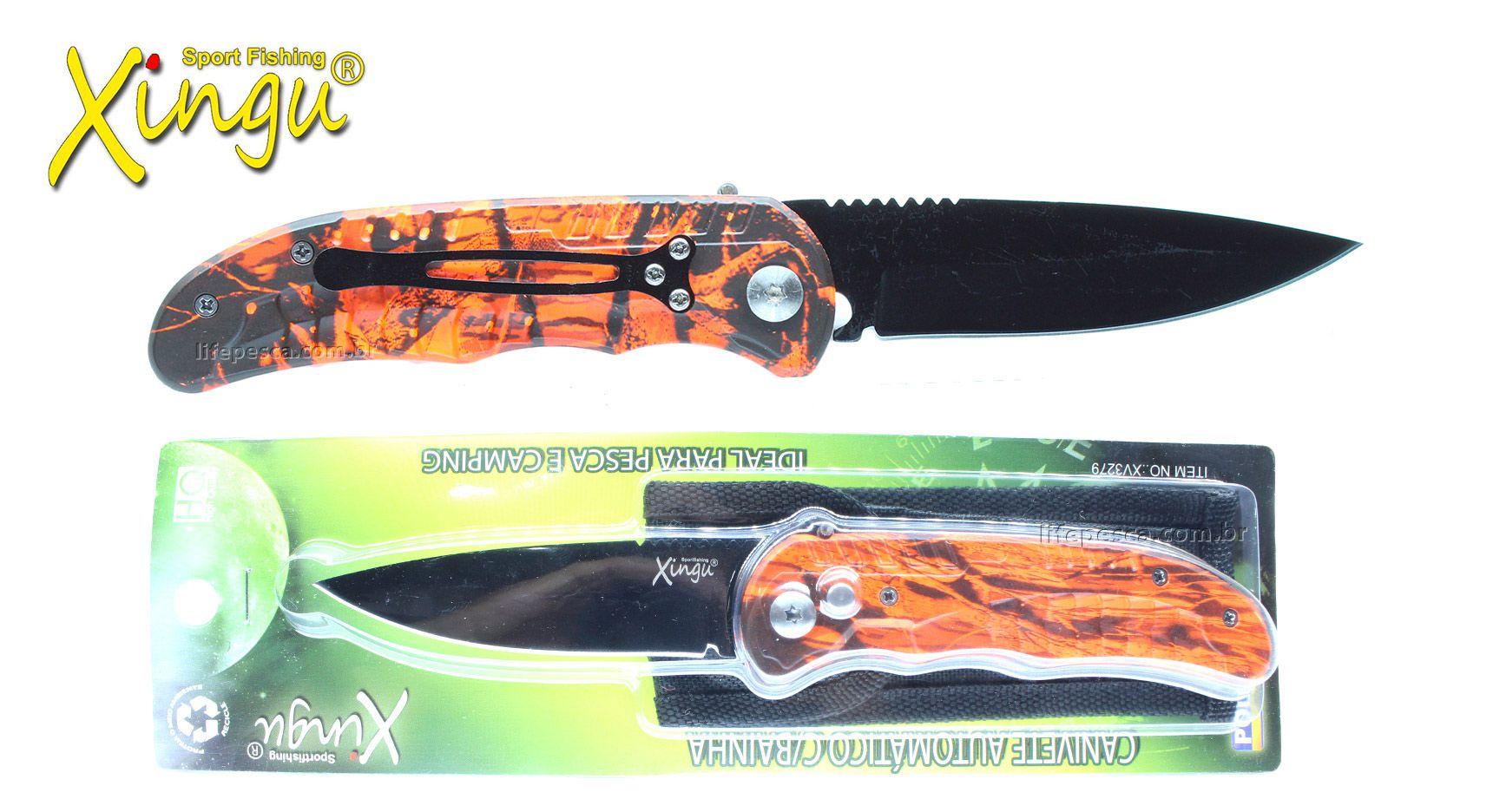 Canivete Automático Xingu XV3279 21cm - Várias Cores