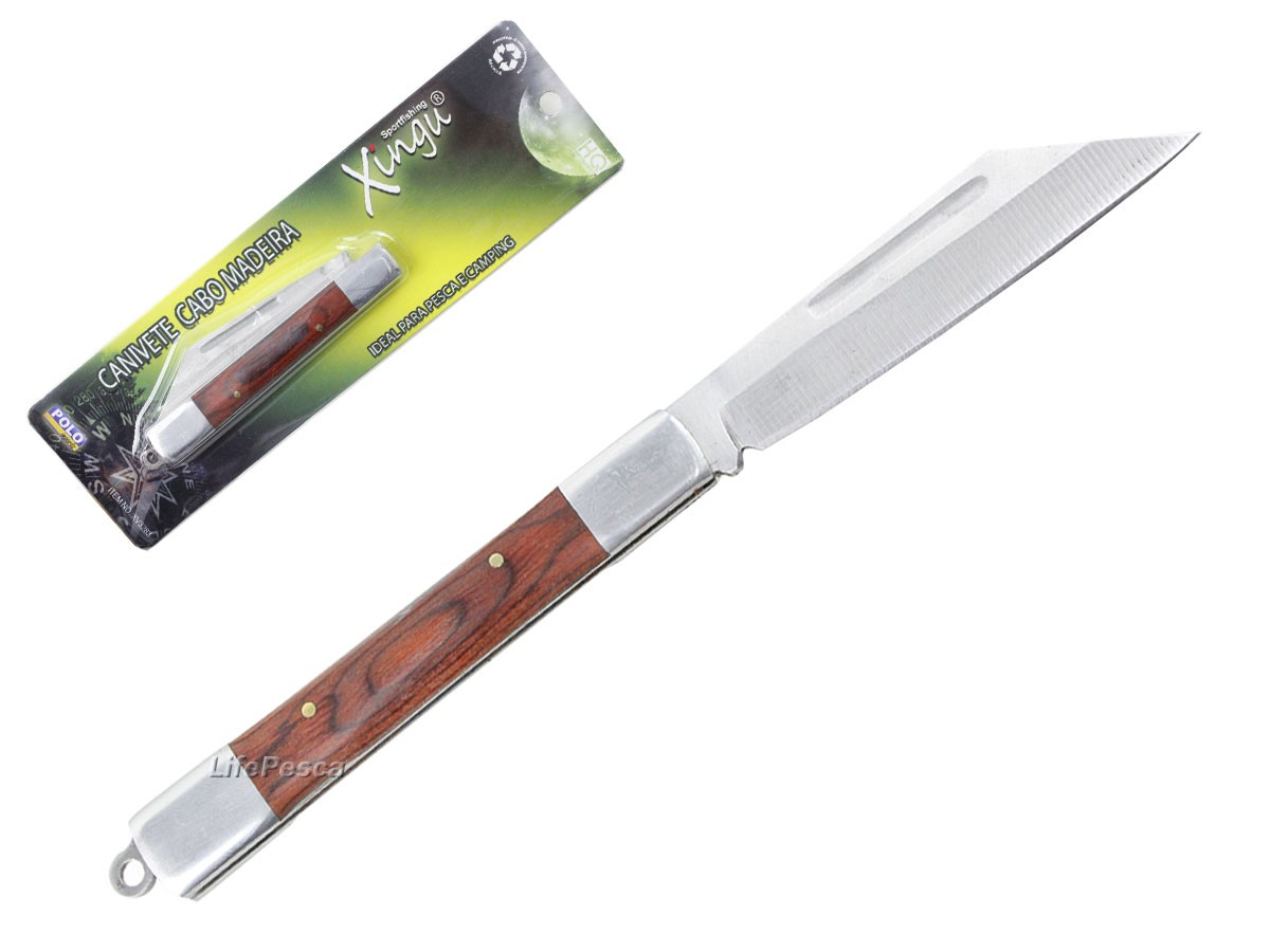Canivete Xingu XV3283 19cm - Cabo Madeira