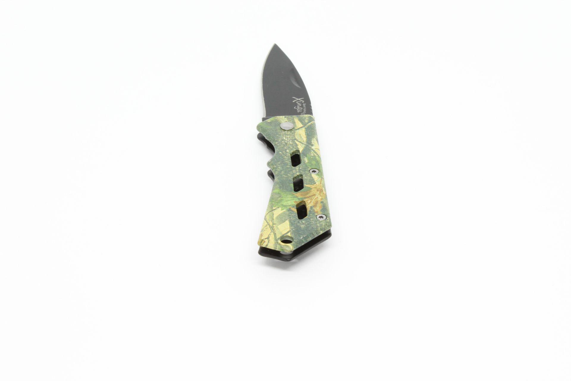 Canivete Xingu XV3140 - Cabo Metal Camuflado  - Life Pesca - Sua loja de Pesca, Camping e Lazer