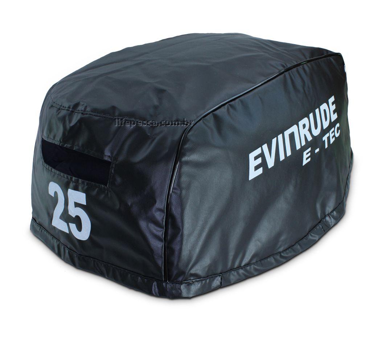 Capa Para Capô De Motor De Popa Evinrude E-Tec 25 HP - 2 Tempos