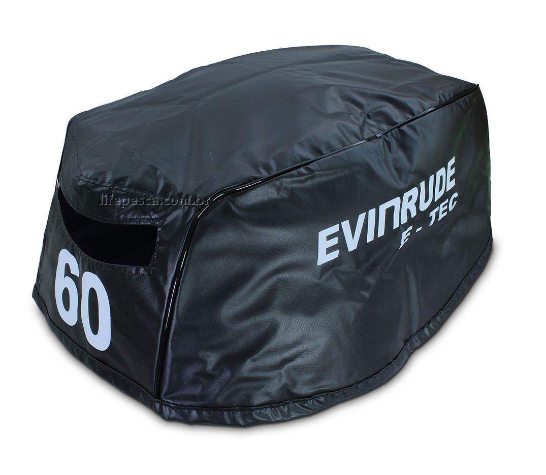 Capa Para Capô De Motor De Popa Evinrude E-Tec 60 HP