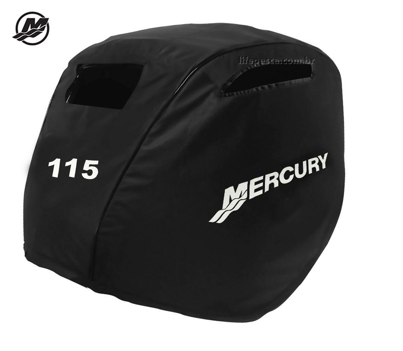 Capa Para Capô De Motor De Popa Mercury 115 HP Novo - 4 Tempos