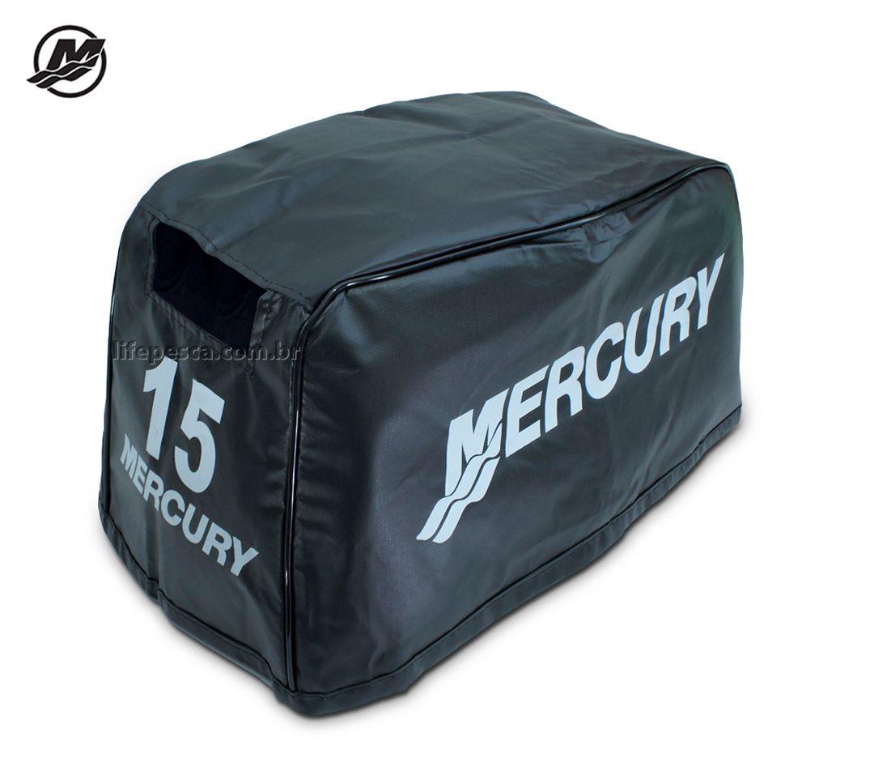Capa Para Capô De Motor De Popa Mercury 15 HP Super - 2 Tempos