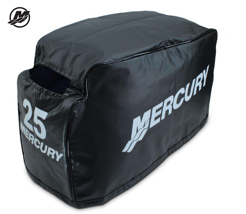 Capa Para Capô De Motor De Popa Mercury 25 HP Sea Pro - 2 Tempos