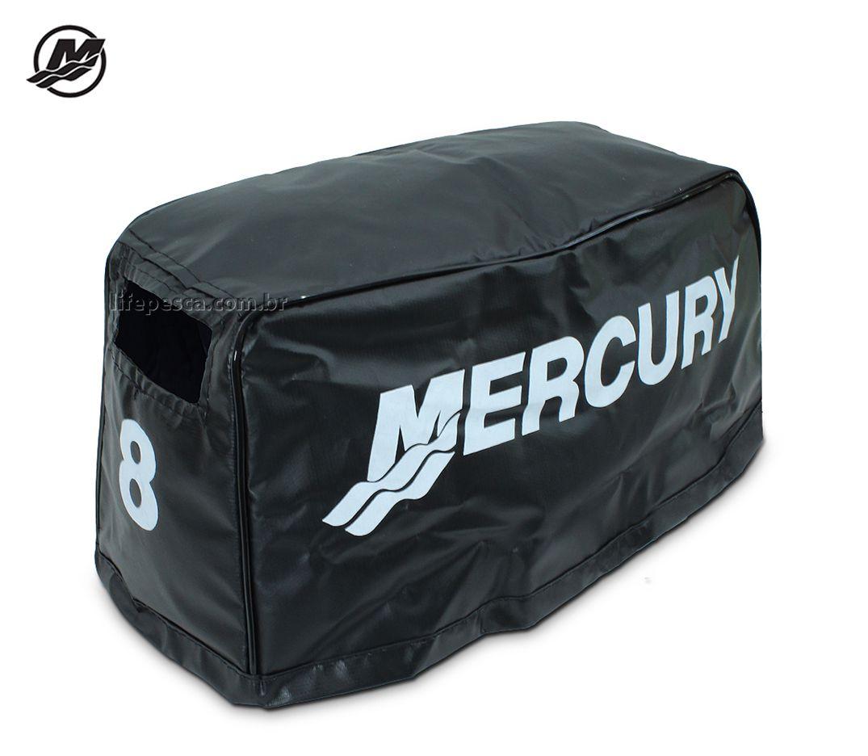 Capa Para Capô De Motor De Popa Mercury 8 HP - 2 e 4 Tempos