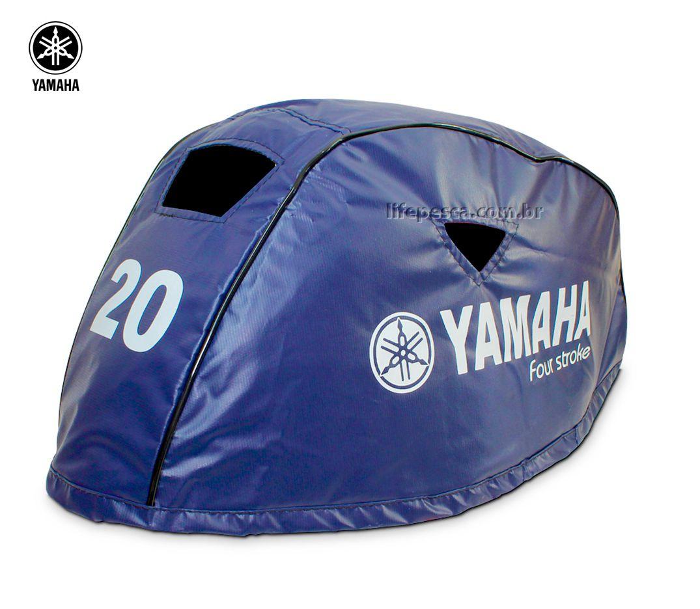 Capa Para Capô De Motor De Popa Yamaha F20 HP - 4 Tempos