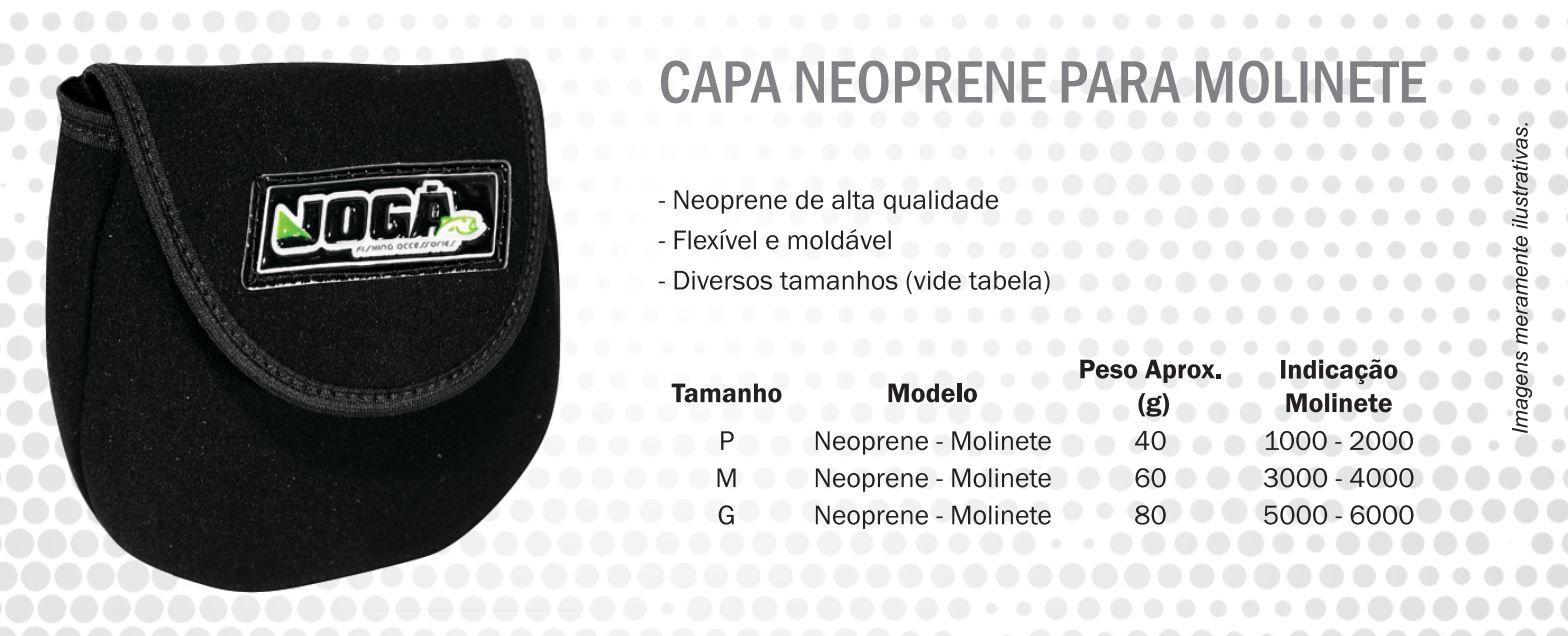 Capa Protetora Jogá em Neoprene P/ Molinete - Tamanhos P, M e G  - Life Pesca - Sua loja de Pesca, Camping e Lazer