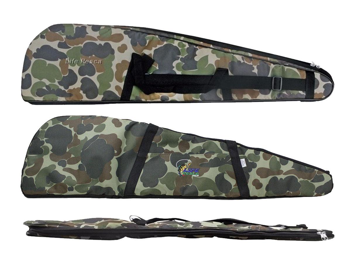 Capa Protetora Para Carabina Almofadada (1,20m) Life Pesca - Camuflada