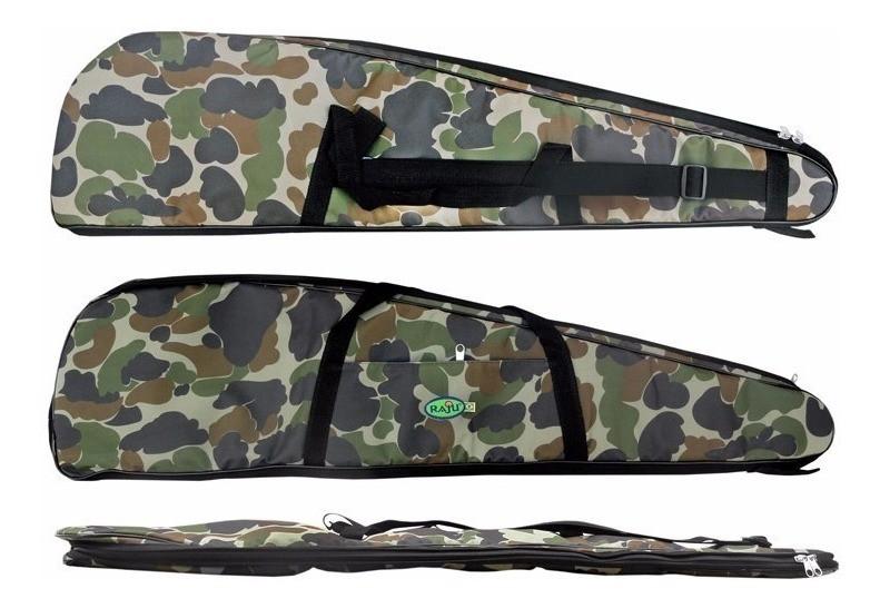 Capa Protetora Para Carabina Almofadada (1,30m) Life Pesca - Camuflada