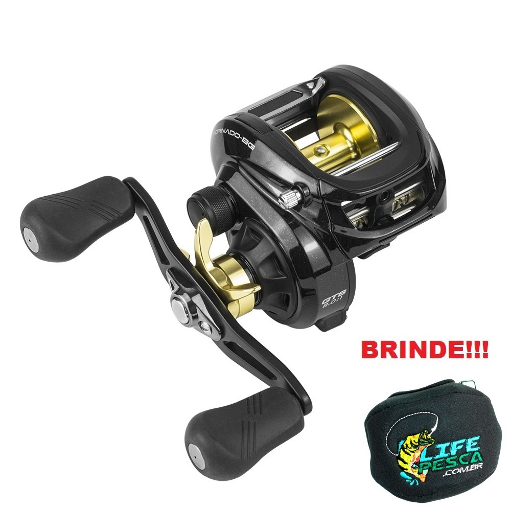 Carretilha Marine Sports Tornado Big Game GTS - 7 Rolamentos