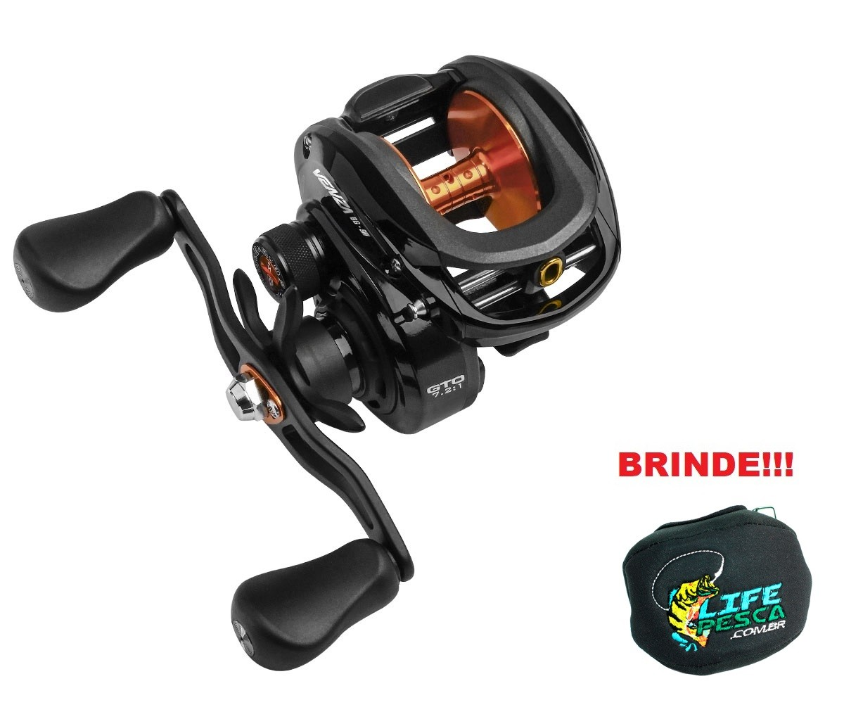 Carretilha Marine Sports Venza Big Game GTO 7000 - 7 Rolamentos