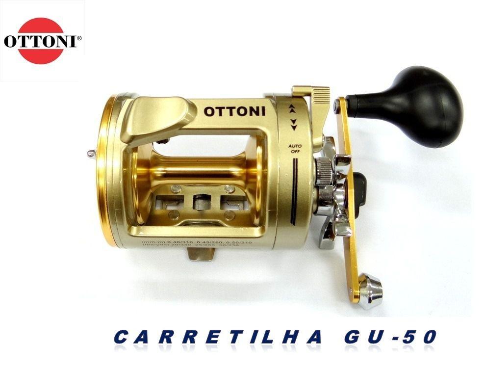 Carretilha Perfil Alto Giant Ultra GU50 Direita - 5 Rolamentos