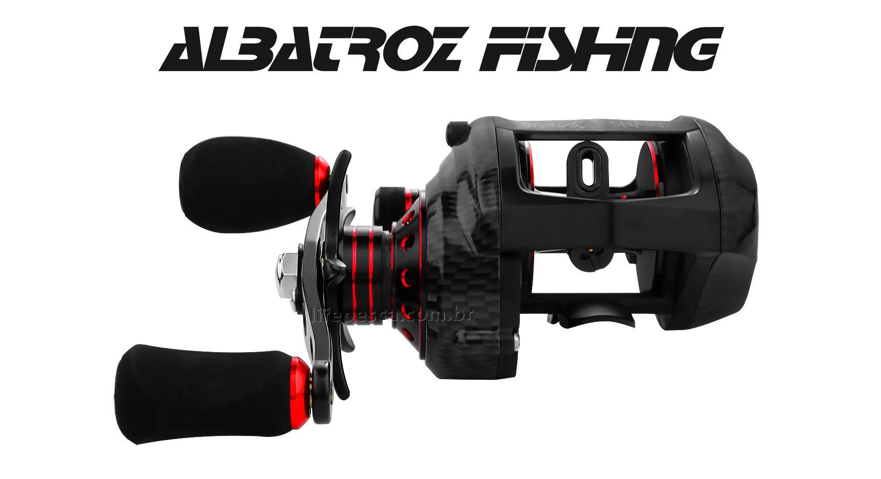 Carretilha Perfil Baixo Albatroz Fishing Black Snake - 14kg Drag  - Life Pesca - Sua loja de Pesca, Camping e Lazer