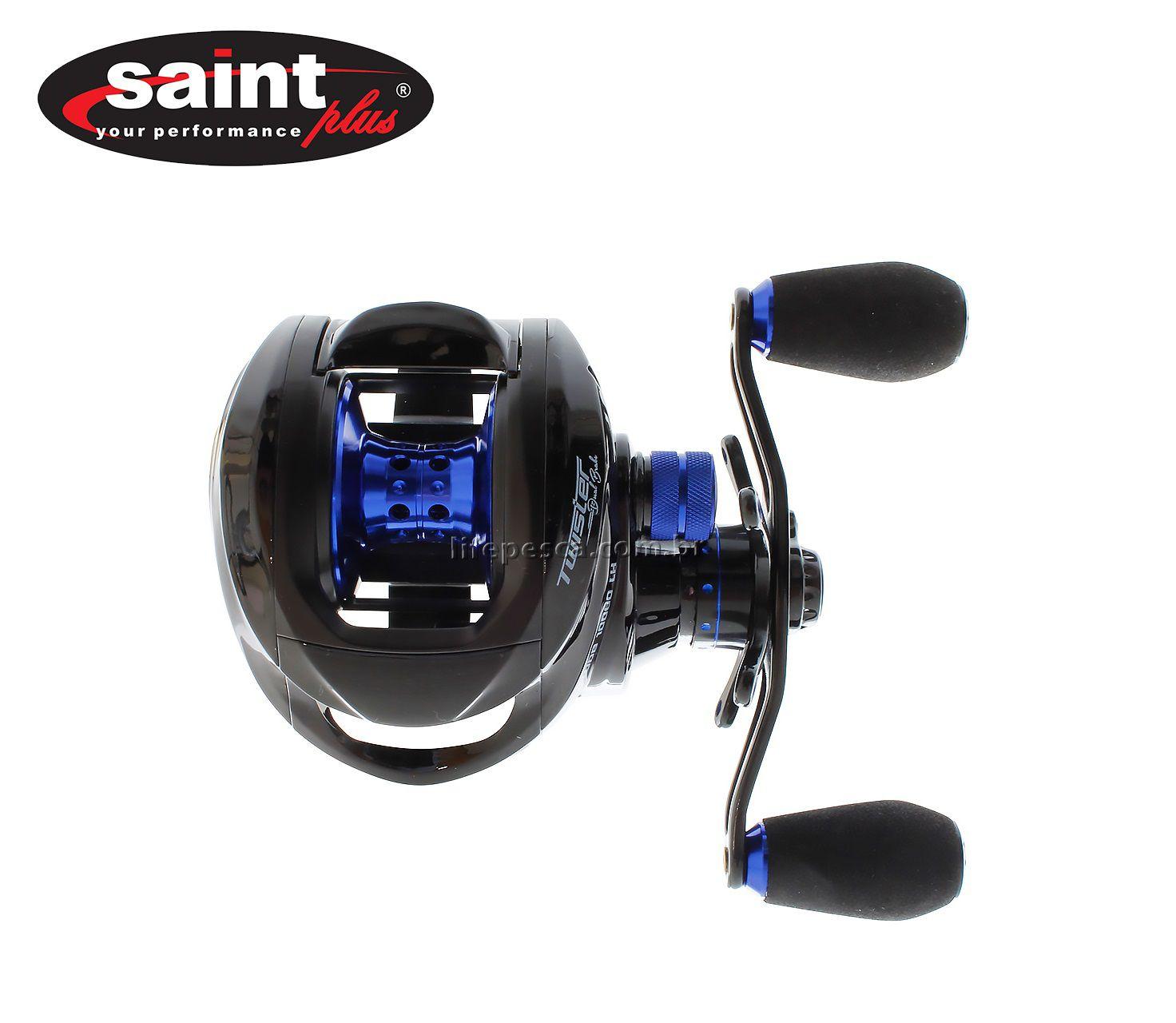 Carretilha Perfil Baixo Saint Twister Dual Brake 10000 - 10 Rolamentos  - Life Pesca - Sua loja de Pesca, Camping e Lazer
