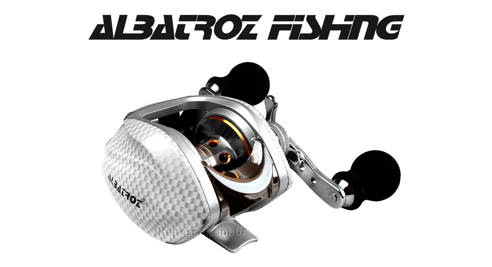 Carretilha Perfil Baixo Albatroz Fishing Krait BC - 10 Rolamentos  - Life Pesca - Sua loja de Pesca, Camping e Lazer