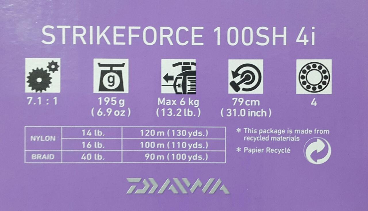 Carretilha Strikeforce 100SH 4i Daiwa - Recolhimento 7.1:1  - Life Pesca - Sua loja de Pesca, Camping e Lazer