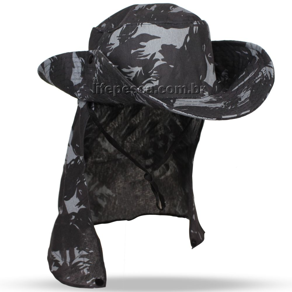 Chapéu Pescador C/ Protetor De Nuca - Várias Cores  - Life Pesca - Sua loja de Pesca, Camping e Lazer