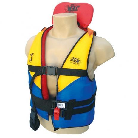Colete Auxiliar Flutuador Salva Vidas 80kg - Colorido - JEM