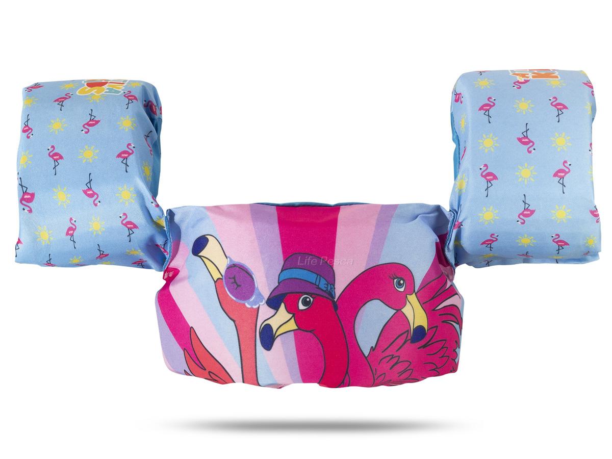 Colete Salva Vidas Infantil Ativa Kids Flamingo Homologado (Até 25 Kg).-  Ativa Náutica