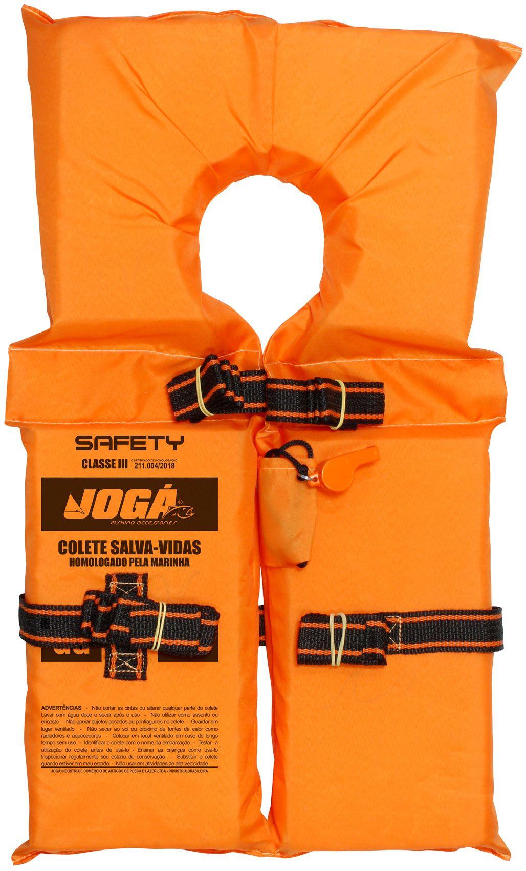 Colete Salva Vidas Jogá Classe 3 Safety Laranja - GG
