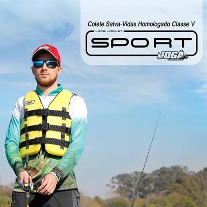 Colete Salva Vidas Jogá Homologado Classe 5 Sport - G (55 a 110 kg)  - Life Pesca - Sua loja de Pesca, Camping e Lazer