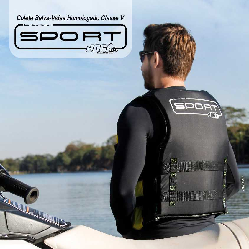 Colete Salva Vidas Jogá Homologado Classe 5 Sport - P (25 a 35 kg)  - Life Pesca - Sua loja de Pesca, Camping e Lazer