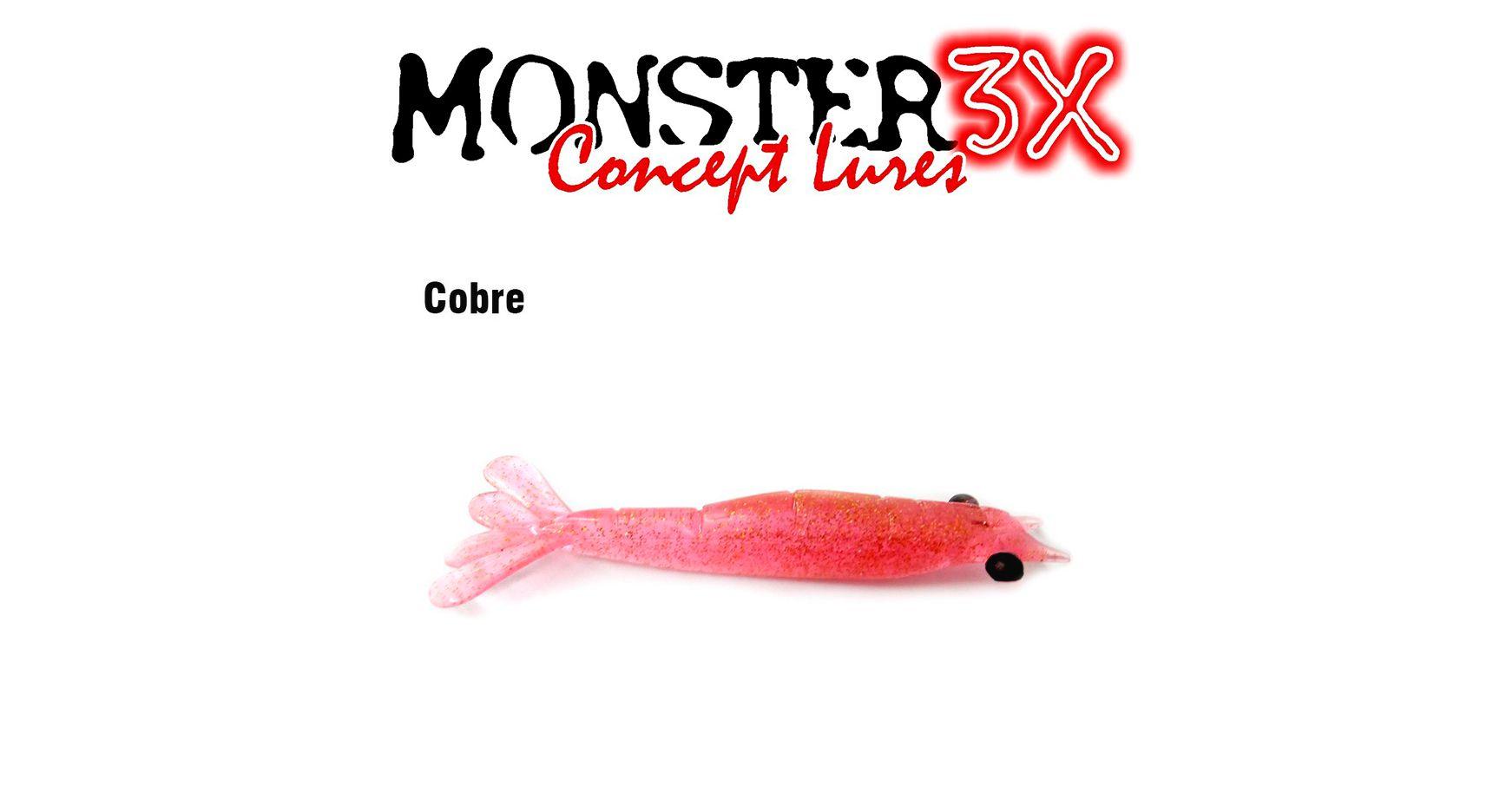 Isca Artificial Soft Monster 3X Ultra Soft (7,5 cm) 3 Unidades - Várias Cores