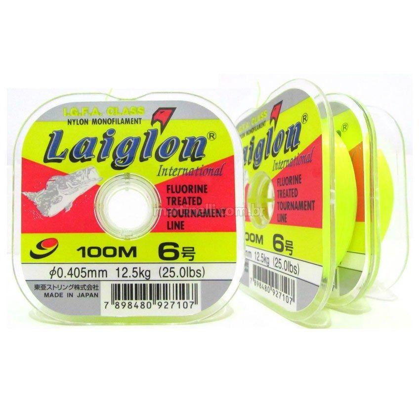 Linha Monofilamento Laiglon 0,33mm 16lbs/8,0kg - 100 Metros  - Life Pesca - Sua loja de Pesca, Camping e Lazer