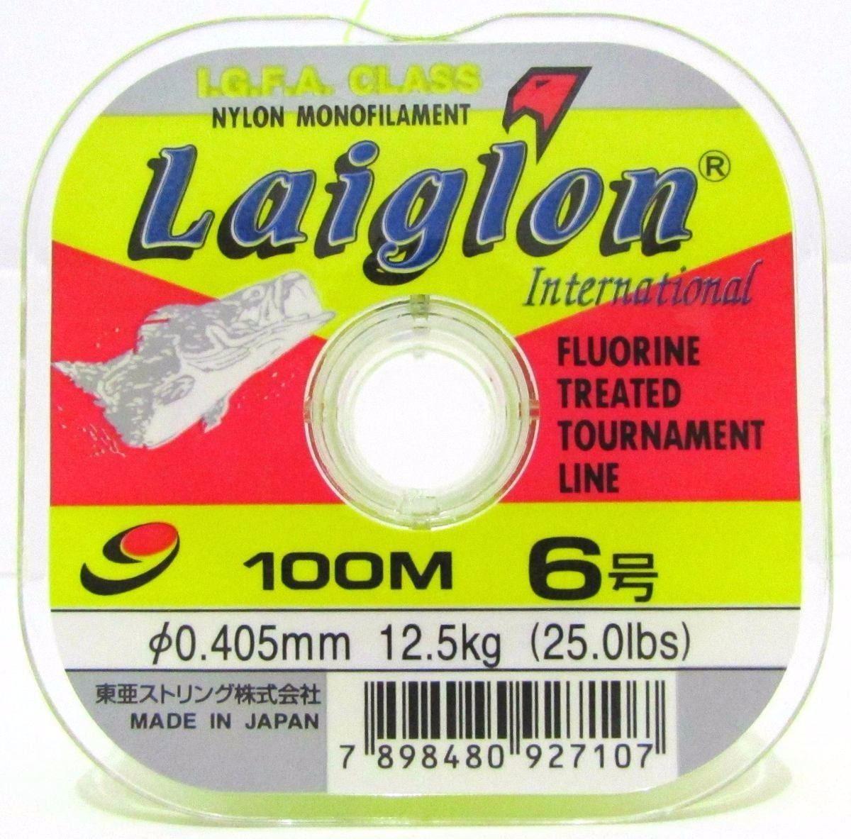 Linha Monofilamento Laiglon 0,33mm 16lbs/8,0kg - 100 Metros