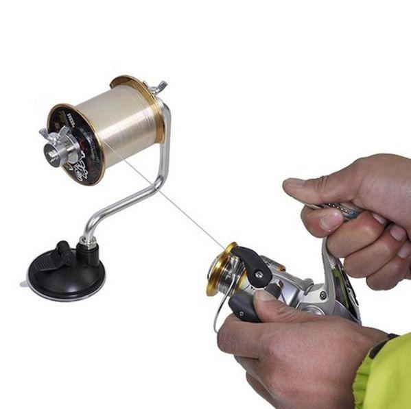 Enrolador Suporte Linha De Pesca Ventosa Carretilha Molinete