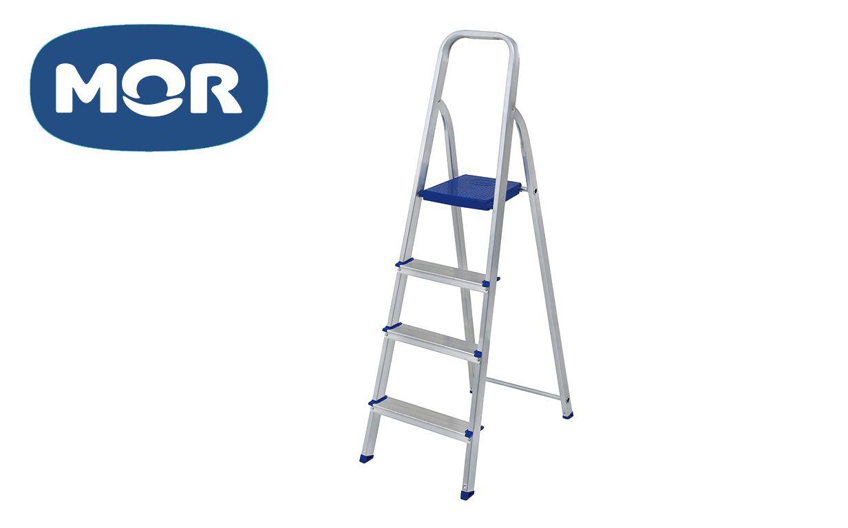Escada Alumínio 4 Degraus Uso Doméstico - Mor