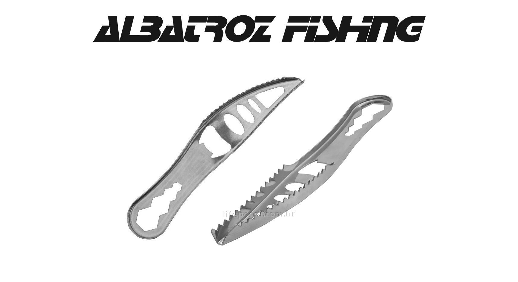 """Escamador de Peixe Inox 4"""" - Albatroz Fishing - FT207A  - Life Pesca - Sua loja de Pesca, Camping e Lazer"""