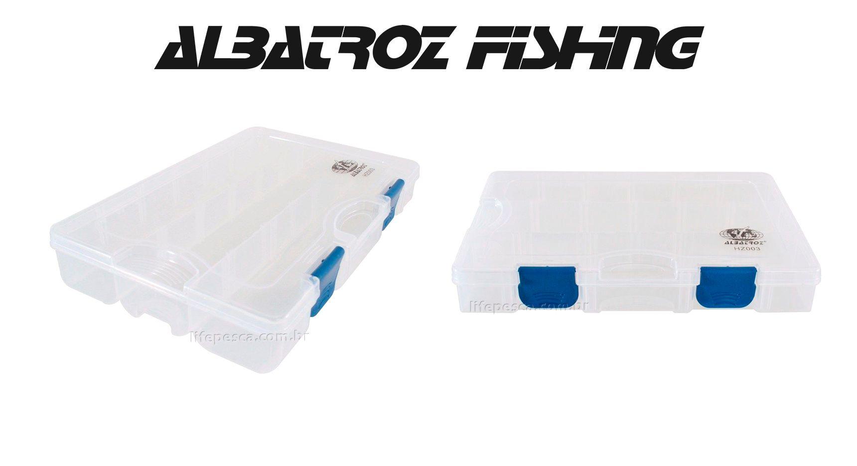 Estojo 13 Divisórias HZ003 - Albatroz Fishing  - Life Pesca - Sua loja de Pesca, Camping e Lazer