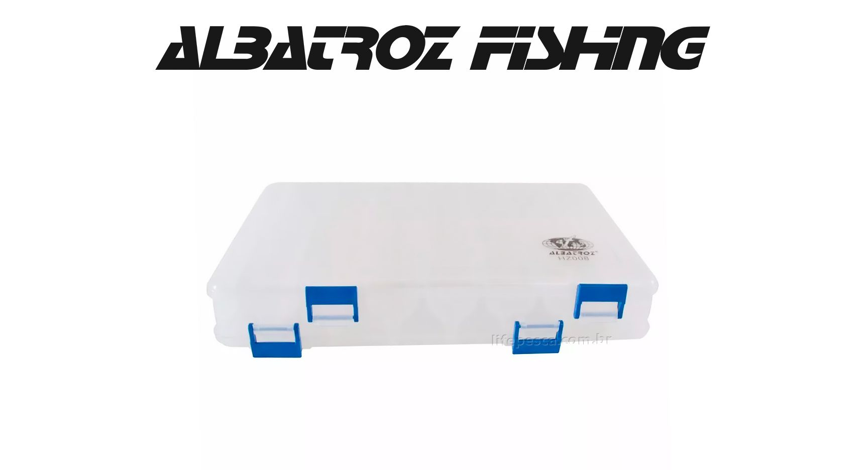 Estojo Duplo 14 Divisórias HZ008 - Albatroz Fishing  - Life Pesca - Sua loja de Pesca, Camping e Lazer