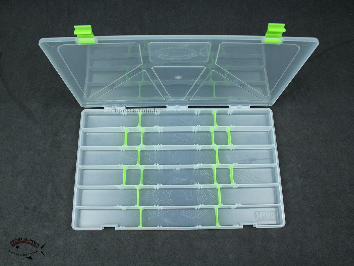 Estojo Box 23 Para Iscas Transparente - C/ 24 Divisões  - Life Pesca - Sua loja de Pesca, Camping e Lazer