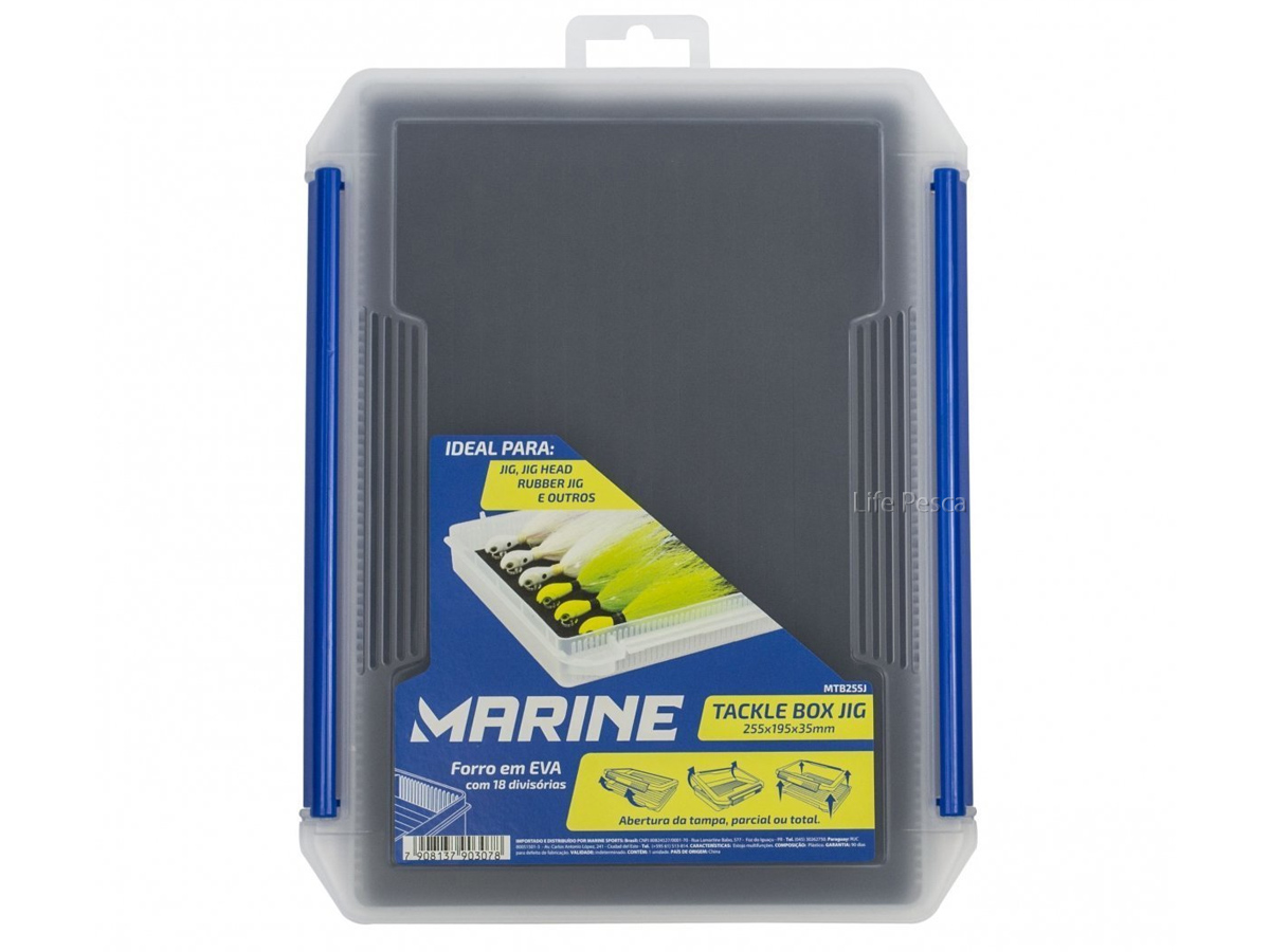 Estojo MTB255J C/ 18 Divisórias em EVA (25,5 x 19,5 x 3,5cm) - Marine Sports