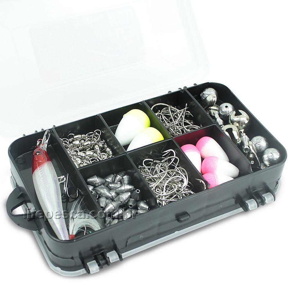Estojo Organizador Para Pesca Mini Double Case 8002 - Arqplast