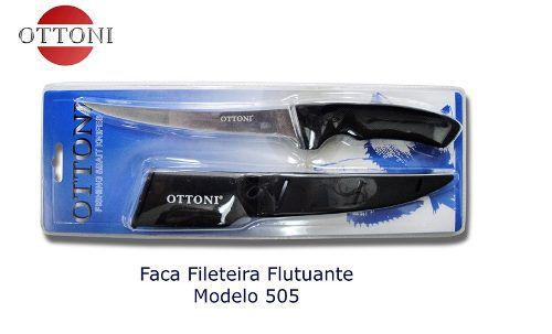 Faca de Filetar Peixes Ottoni F505 Com Bainha