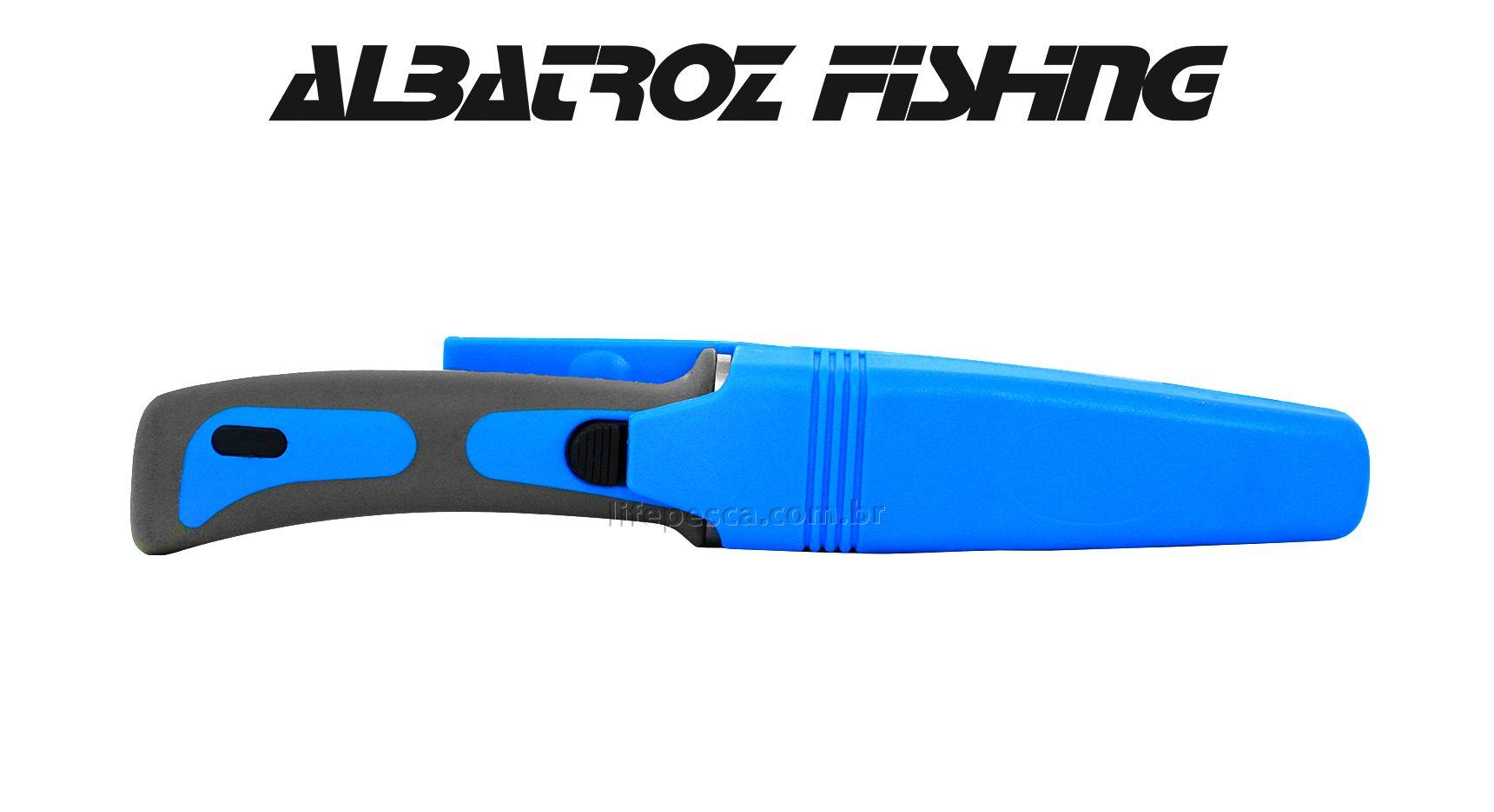 Faca De Mergulho QS-209 Albatroz Fishing - Cabo Emborrachado  - Life Pesca - Sua loja de Pesca, Camping e Lazer