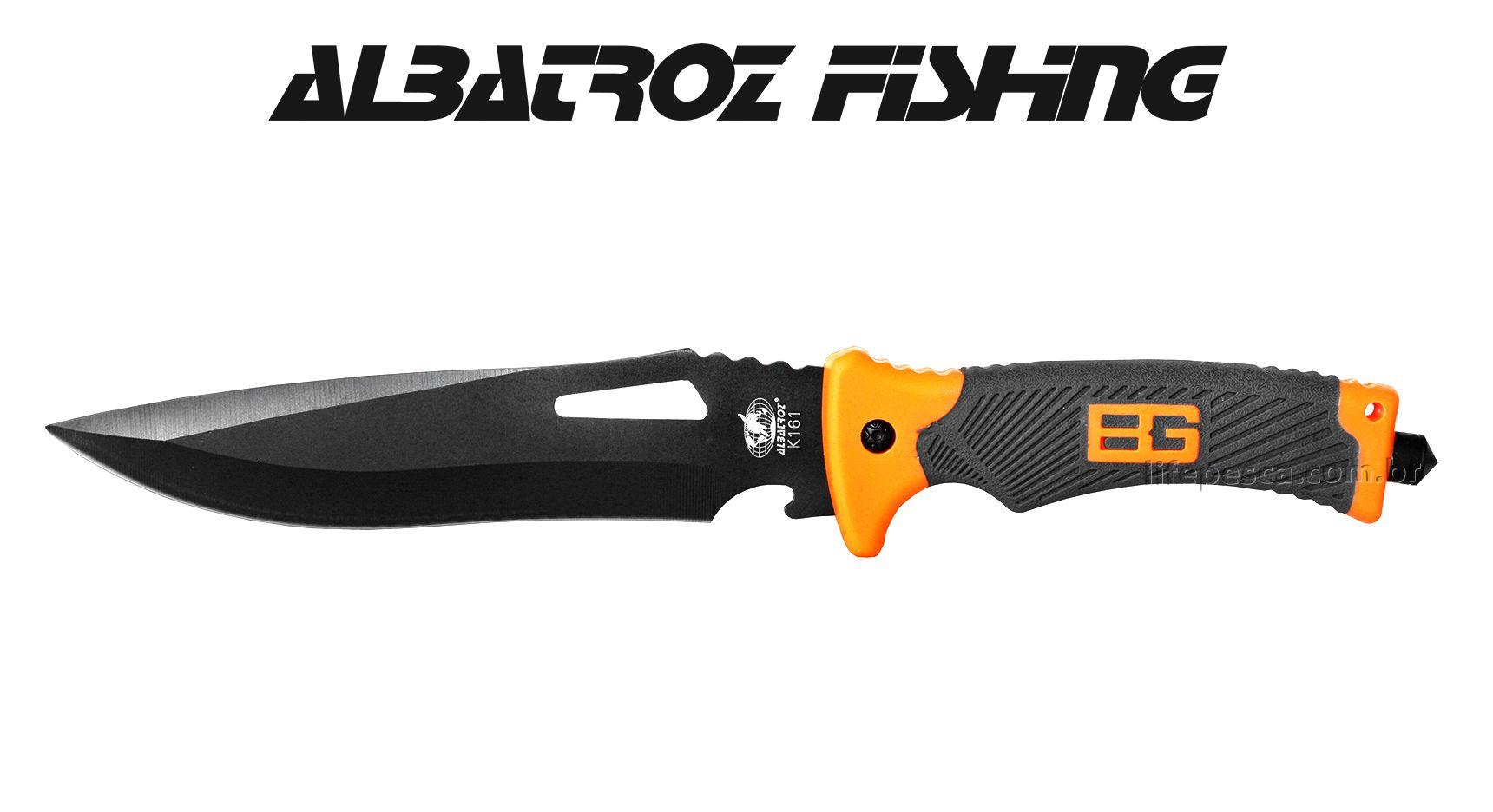 Faca Tática K161 Albatroz Fishing - Cabo Emborrachado