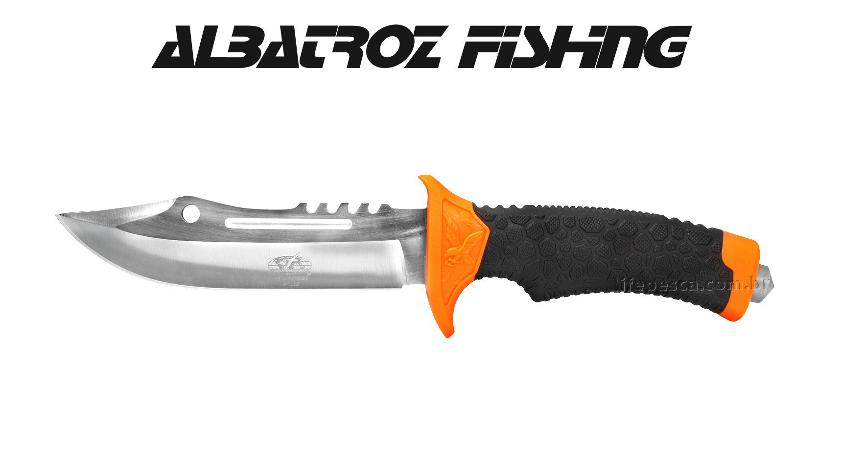 Faca Tática P1006 Albatroz Fishing - Cabo Emborrachado