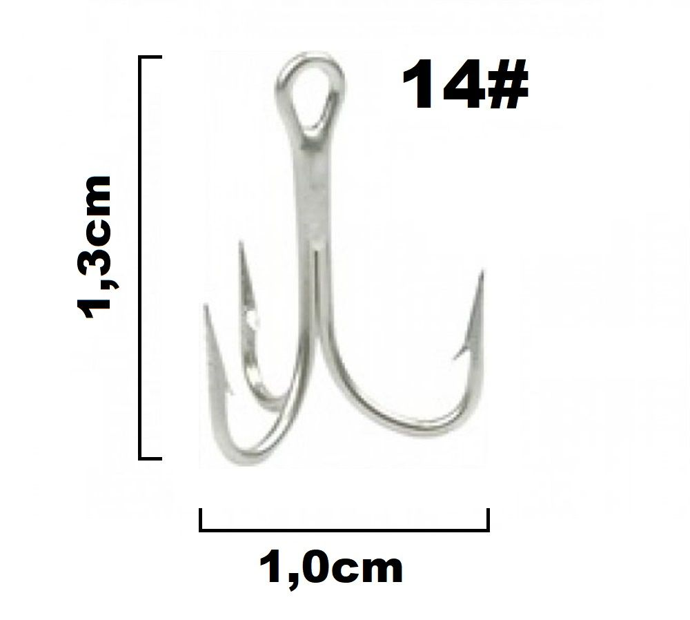 Garateia Marine Sports N° 14 (1,3cm) - Caixa 100 Peças  - Life Pesca - Sua loja de Pesca, Camping e Lazer