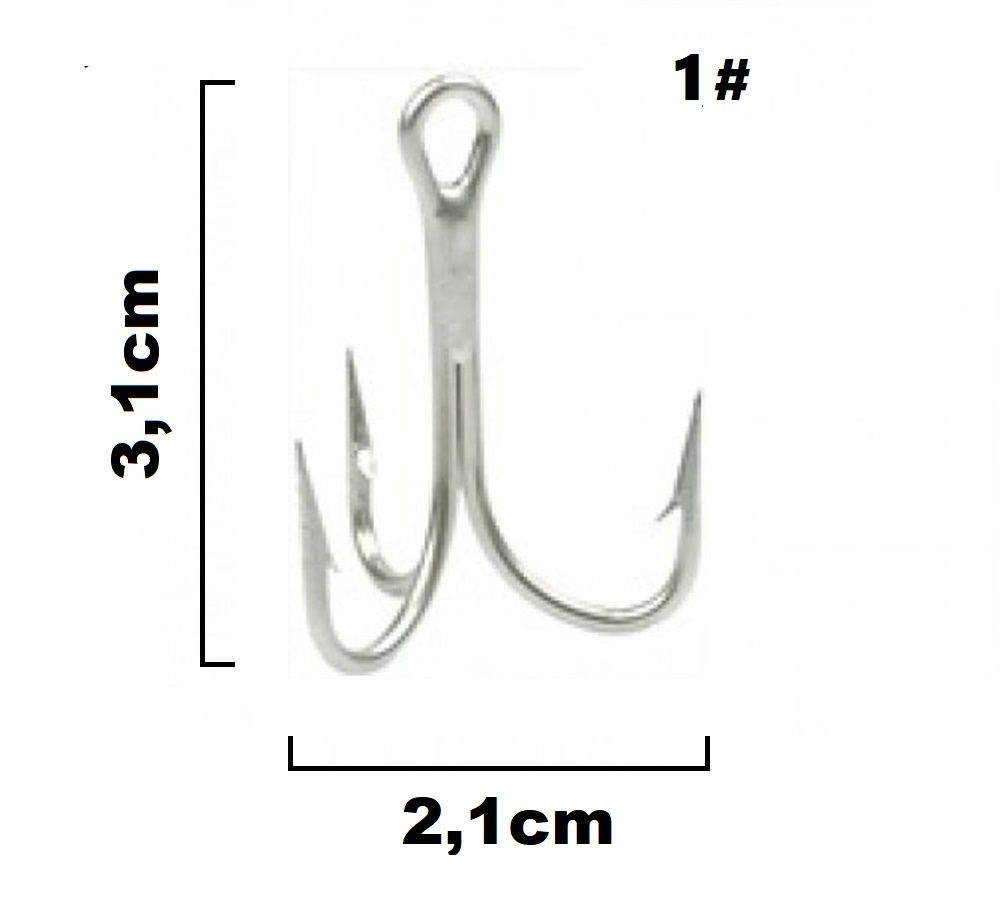 Garateia Marine Sports N° 1 (3,1cm) - Caixa 100 Peças  - Life Pesca - Sua loja de Pesca, Camping e Lazer