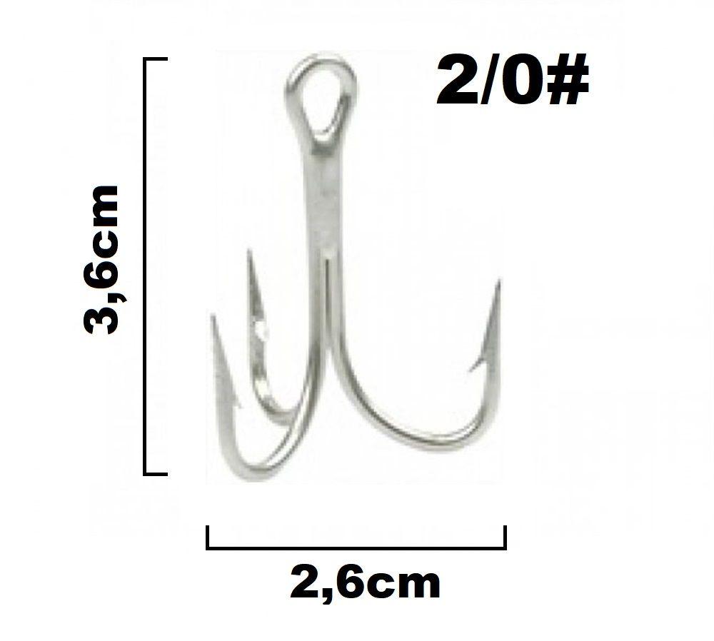 Garateia Marine Sports N° 2/0 (3,6cm) - Caixa 100 Peças  - Life Pesca - Sua loja de Pesca, Camping e Lazer