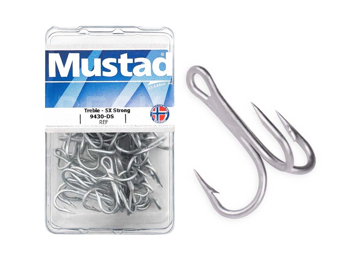 Garatéia Mustad 5x Strong 9430-DS Nº 8 - 50 Peças