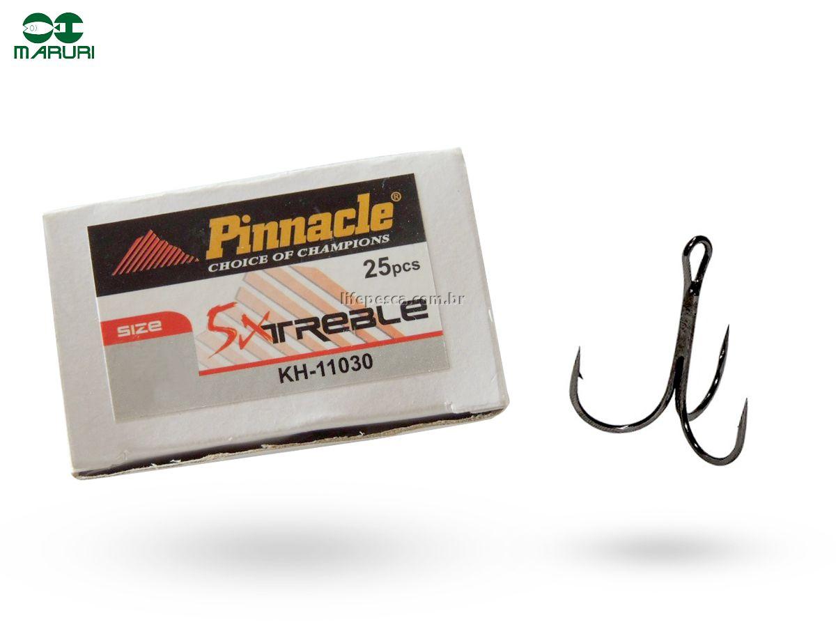 Garateia Pinnacle 5x Treble Black N° 3/0 (4,0cm) - 25 Peças