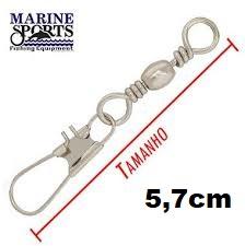 Girador C/ Snap BBS-NI Nº 1 - Marine Sports - 25 Peças  - Life Pesca - Sua loja de Pesca, Camping e Lazer