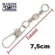 Girador C/ Snap BBS-NI Nº 3/0 - Marine Sports - 50 Peças  - Life Pesca - Sua loja de Pesca, Camping e Lazer