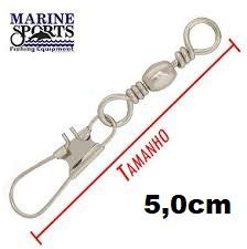 Girador C/ Snap BBS-NI Nº 3 - Marine Sports - 25 Peças  - Life Pesca - Sua loja de Pesca, Camping e Lazer